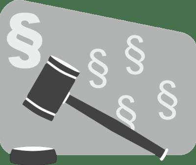 Gesetz und Gesetzeshammer